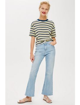 Moto Bleach Dree Cropped Jeans by Topshop