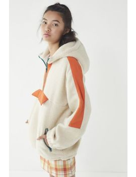 Uo Kenzie Sherpa Popover Jacket by Urban Outfitters