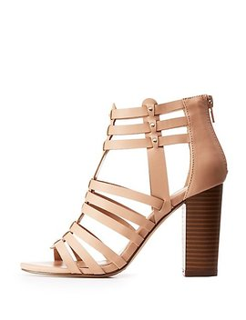 Caged Studded Dress Sandals by Charlotte Russe