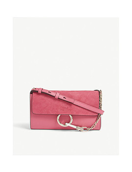 Faye Suede Leather Small Cross Body Bag by Chloe