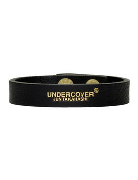 Black Logo Bracelet by Undercover