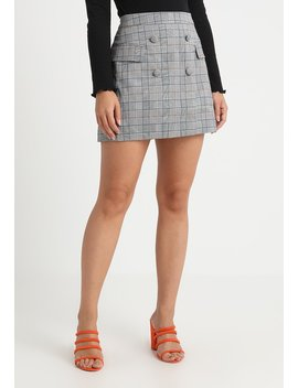 Ruby Button Front Skirt   Spódnica Trapezowa by 4th & Reckless Petite