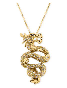 Effy® Diamond Dragon Pendant Necklace (5/8 Ct. T.W.) In 14k Gold by Effy Collection