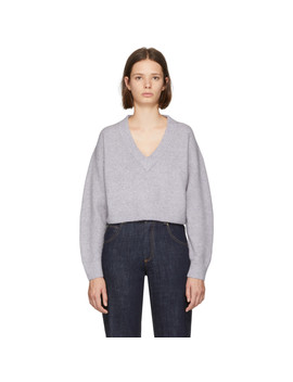Purple Lofty V Neck Sweater by 3.1 Phillip Lim