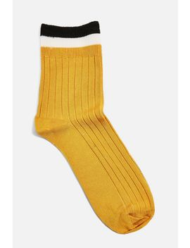 Sporty Ribbed Socks by Topshop