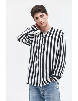 Bold Stripe Long Sleeve Button Up Shirt by Pac Sun