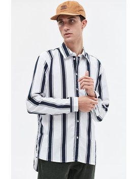 Bold Stripe Long Sleeve Button Up Shirt by Tommy Jeans