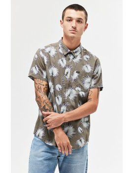Palms Short Sleeve Button Up Camp Shirt by Rvca