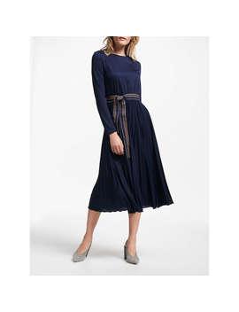 Marella Dorato Pleated Dress, Navy by Marella
