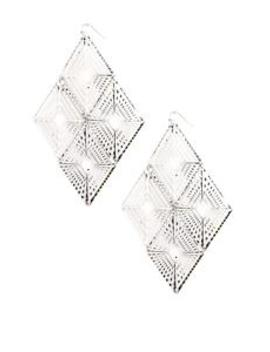 Thou Art Decorated Earrings   Silver by Fashion Nova