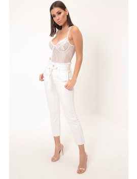 White High Waisted Belt Mom Jeans by I Saw It First