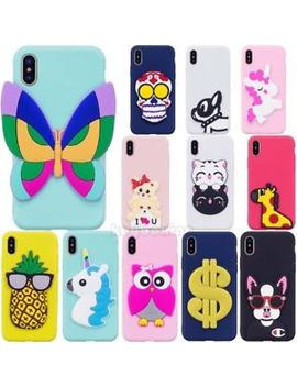 3 D Cartoon Soft Silicone Phone Case Cover Skin For I Phone X 8 Plus Samsung Phone by Unbranded/Generic