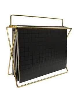 Hanging File Holder With Folders Gold/Black Grid   Project 62™ by Hanging File Holder With Folders Gold/Black Grid   Project 62