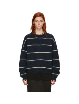 Navy Striped Rhira Sweater by Acne Studios