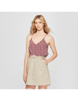 Women's Striped Crepe Cami   A New Day™ Burgundy by Shop All A New Day™