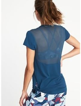Mesh Back Side Tie Performance Top For Women by Old Navy
