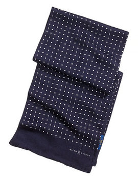 Men's Dot Print Scarf by Polo Ralph Lauren