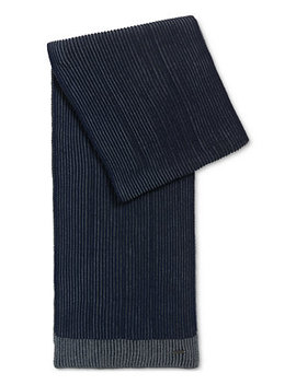 Boss Men's Textured Merino Wool Scarf by Hugo Boss
