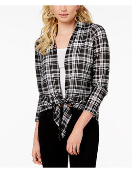 Juniors' Plaid Layered Look Top by Almost Famous