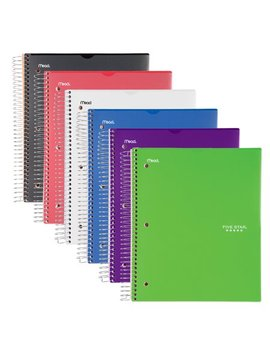 Five Star Customizable Notebook, 5 Subject, College Ruled, Assorted Colors (08689) by Five Star