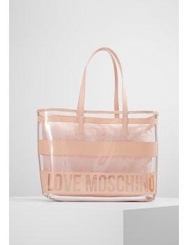 Transparent Logo Beach Bag   Handbag by Love Moschino