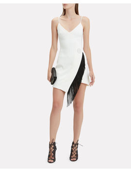 Fringe Detail White Cami Dress by David Koma