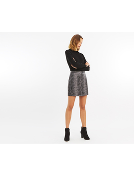 Faux Snake Mini Skirt by Oasis
