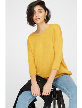 Soft Knit Side Slit Long Sleeve by Urban Planet
