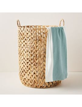Open Weave Zigzag Hamper by West Elm