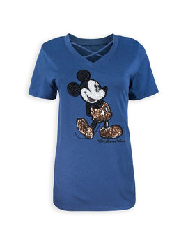 Mickey Mouse Sequined Fashion T Shirt For Women   Walt Disney World by Disney