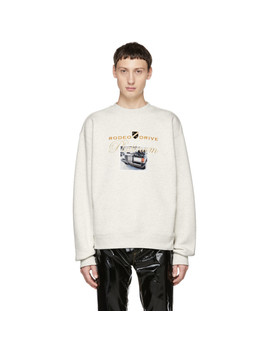 White Platinum Car Sweatshirt by Alexander Wang