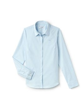 Women's Slim Fit Stretch Shirt by Lacoste