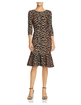 Textured Leopard Print Dress by Milly