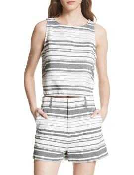 Bryga Stripe Cotton Twill Top by Joie