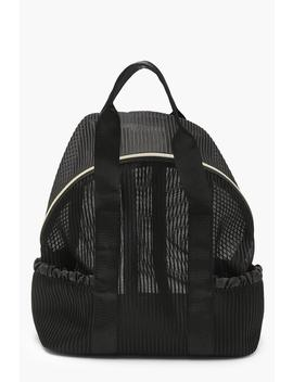Pleated Mesh Sports Rucksack by Boohoo