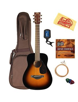Yamaha Jr2 3/4 Size Acoustic Guitar   Tobacco Sunburst Bundle With Gig Bag, Tuner, Strings, String Winder, Picks, Austin Bazaar Instructional Dvd, And Polishing Cloth by Yamaha