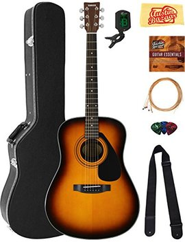 Yamaha F325 D Dreadnought Acoustic Guitar   Tobacco Sunburst Bundle With Hard Case, Tuner, Strings, Strap, Picks, Austin Bazaar Instructional Dvd, And Polishing Cloth by Yamaha