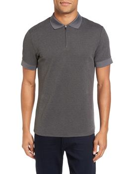 Slim Fit Mesh Polo by Vince Camuto