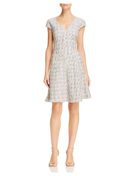 Tweed Fit And Flare Dress by Rebecca Taylor