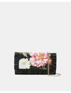 Iguazu Leather Ruffle Cross Body Purse by Ted Baker