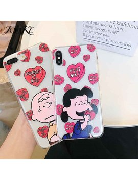 Charlie Brown Cartoon Phone Case For Iphone X Phone Case For Iphone 6 6 S 7 8 Plus Fashion Cute Couple Boy Girl Case by Jicuike