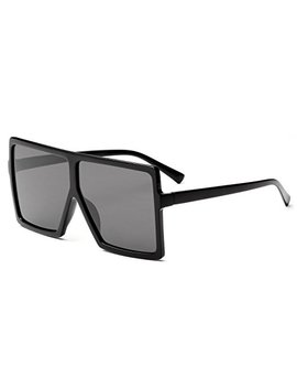 Grfisia Square Oversized Sunglasses For Women Men Flat Top Fashion Shades by Grfisia