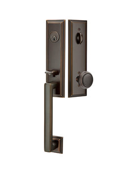 Wilshire Exterior Tubelatch Door Set With Norwich Knob by Rejuvenation