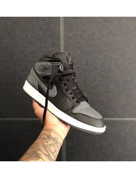 Air Jordan 1 Mid Black Grey Sneakers Uk7.5 by Ebay Seller