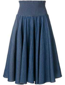 High Waisted Flared Skirt by Julien David