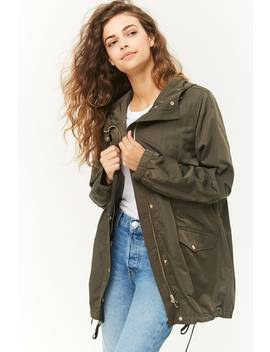 Drawstring Hooded Parka by Forever 21