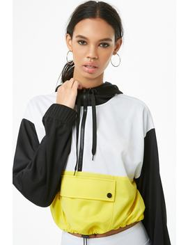 Colorblocked Toggle Hem Anorak by Forever 21