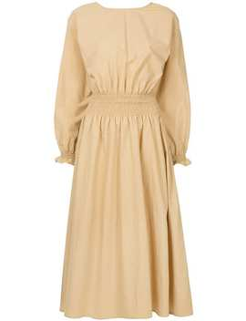 Ruched Waist Midi Dress by Aeron