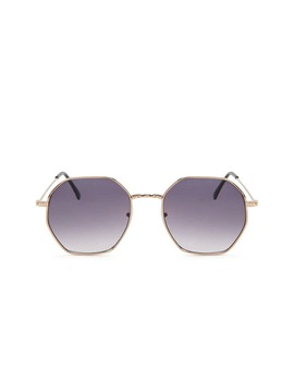 Metal Octagon Premium Sunglasses by Forever 21