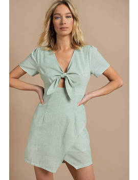 Cutie Pie Green Shift Dress by Tobi